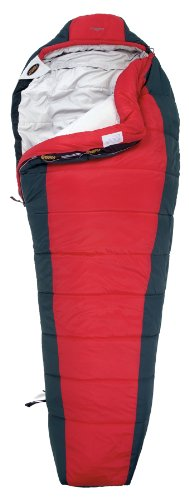 Asolo Maggiore 0-Degree X-Static Insulation Anti-Microbial and Odor Eliminating Synthetic Mummy Bag (Red/Grey, Medium), Outdoor Stuffs