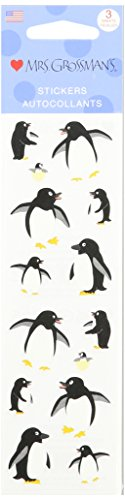 Mrs. Grossman's Stickers-Playful Penguins - 1
