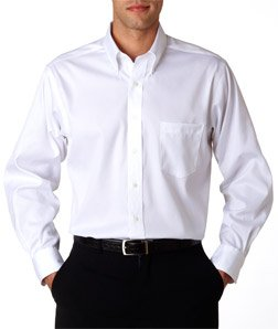 Van-Heusen-V0143-Mens-Long-Sleeve-Non-Iron-Pinpoint-Oxford-White-Small