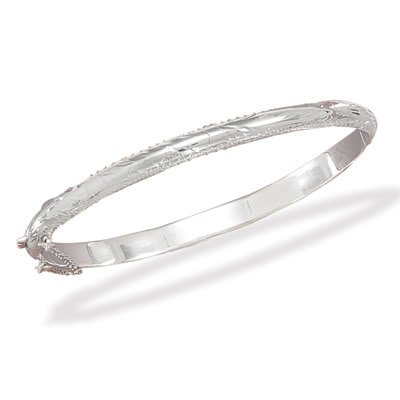 5mm Engraved Bangle