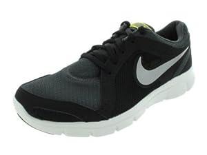 Nike Flex Experience Run 2 - Anthracite / Metallic Grey-Black-Sonic Yellow, 9.5 D US