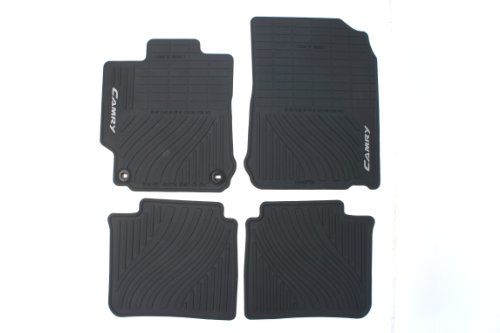 Genuine Toyota Accessories PT908-03120-20 Front and Rear All-Weather Floor Mat - (Black), Set of 4 (2014 Toyota Accessories compare prices)