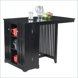 Home Styles Arts and Crafts Steamer Trunk Island Home Bar in Black