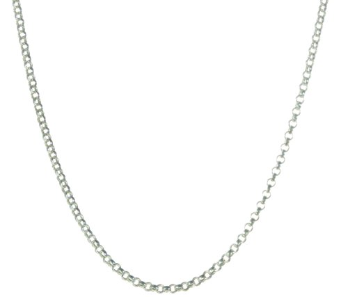 925 Sterling Silver Ladies Belcher Chain - 46cm