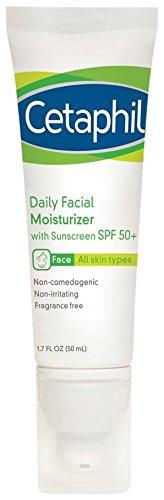 Cetaphil Daily Facial Moisturizer with sunscreen SPF 50+, 1.7 oz (Cetaphil Face Cream compare prices)