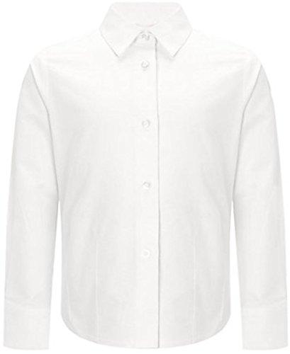 School Uniform ragazza/donna, ufficio lavoro abbigliamento formale maniche lunghe Camicia White 24 EU