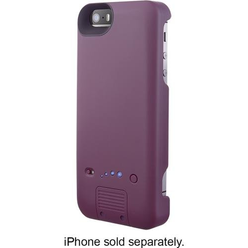 Platinum - External Battery Case for Apple® iPhone® 5 and 5s - Purple (Iphone 5 Platinum Case compare prices)