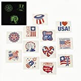 4th of July Patriotic Tattoos (6 dozen) - Bulk by Funexpress