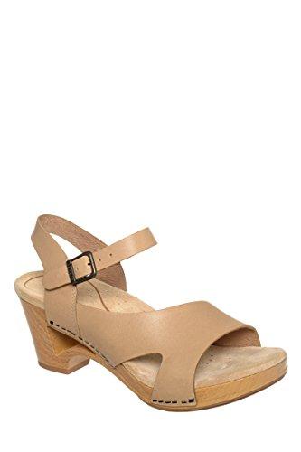 Tasha Full Grain Mid Heel Sandal
