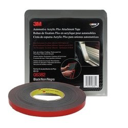3M 06382 - Foam Double Sided Tape 1/2 X 20Yd (Black)