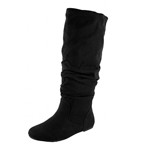 Soda Womens Zulu-S Boot - Black Suede Size 8 (Soda Suede Boots compare prices)