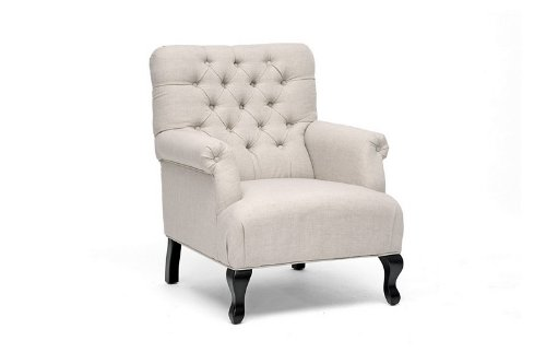 Joussard Beige Linen Club Chair