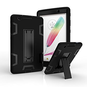 LG G Pad X 8.0 / G Pad III 8.0 Case,X-Master Rugged High Impact Hybrid Drop proof Armor Defender Protection Case Built in Kickstand for LG G Pad X 8.0 V521/G Pad III 8.0 V525 8-Inch Tablet (black) (Lg G Pad Protective Case compare prices)