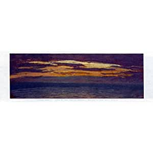 .com: Claude Monet View of the Sea at Sunset Art Print Poster - 12x36