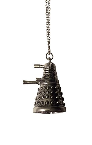 Dalek Robot Pewter Silver Pendant Necklace Doctor Who Costume Accessory