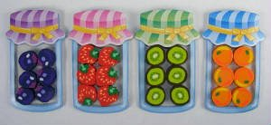 6 Fruit Erasers in a Bottle Package. A Set of 4 Pcs. - Kawaii