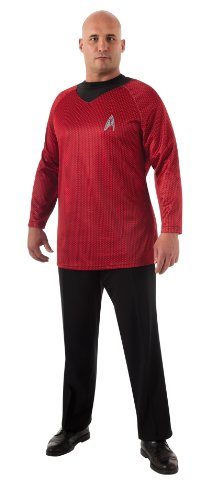 Plus-Size Star Trek Into Darkness Deluxe Scotty Shirt With Emblem, Red/Black, Plus Costume