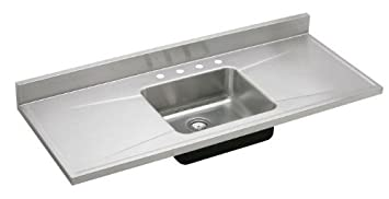 Elkay S54194 S5419 Gourmet Lustertone 54-Inch x 25-Inch Single Basin Stainless Steel Kitchen Sink