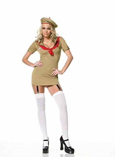 Leg Avenue Womens Trooper Girl Military Scout Outfit Fancy Dress Sexy Costume