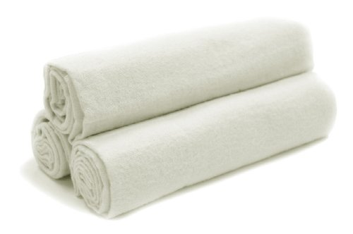 Tadpoles Organics Set of 3 Flannel Receiving Blankets, White - 1