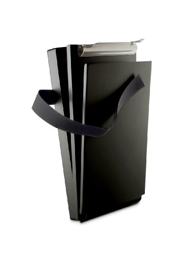 Saunders Recycled Aluminum Citation Holder II Form Holder Clipboard, 6 x 11-Inches, Black (12206)