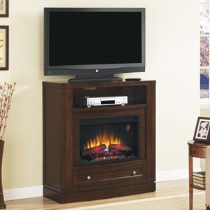Classicflame Wesleyan Electric Fireplace Media Console In Meridian Cherry - 26De6439-C247
