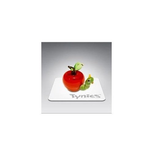 Tynies Animals Eat - Worm In Apple * Colors May Vary * Glass Figure - 1