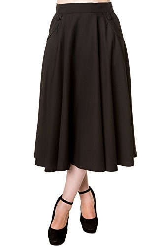 Banned-Gracie-Vintage-Retro-Tea-Length-Skirt-7-Colours-Available