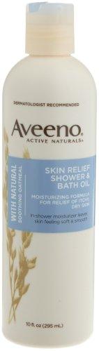 Imagen de Aveeno Skin Naturals activo Relief Shower & Bath Oil con Avena calmante natural para el alivio de la picazón en la piel seca, 10-Ounce Bottles (Pack de 3)