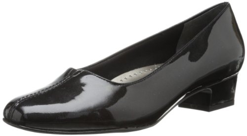 Trotters Women's Doris Pearl Dress Pump,Black Patent,12 WW US