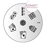 Konad Nail Art Image Plate M48 Playing Cards Casino [Misc.]