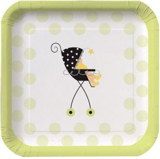 Stroller Fun Dessert Plates