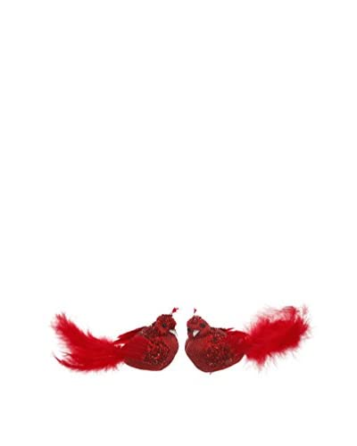 Winward Set of 2 Cardinal Clip Birds, Red