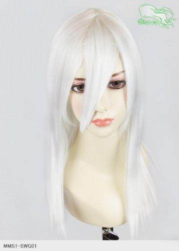 スキップウィッグ 魅せる シャープ 小顔に特化したコスプレアレンジウィッグ フェアリーミディ エンジェルホワイト