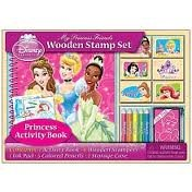 Disney Princess - My Princess Friends Wooden Stamp Set and Activity Book, Contains: 1 Activity Book, 6 Wooden Stampers, 1 Ink Pad, 5 Colored Pencils and 1 Storage Case