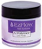 EZ Flow A Polymer False Nails, Clear, 0.75 Ounce