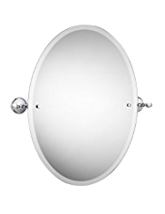 Classic Ceramic Collection Oval Mirror