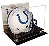 Deluxe Acrylic Football Helmet Display Case With Mirrored Back