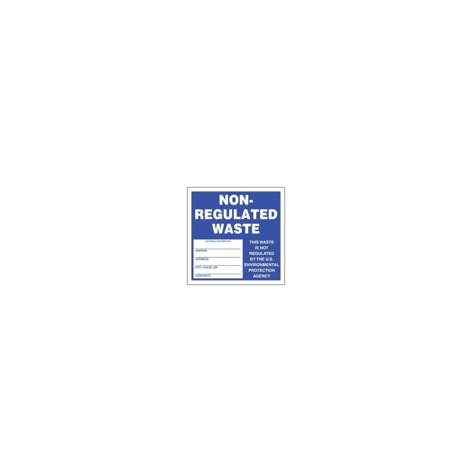 Hazardous Waste Labels NON REGULATED WASTE 6 x 6 (Roll/250)