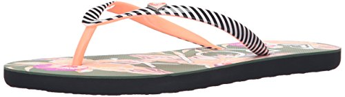 Roxy Women's Mimosa Sandals Flip Flop, Green/Pink, 8 M US