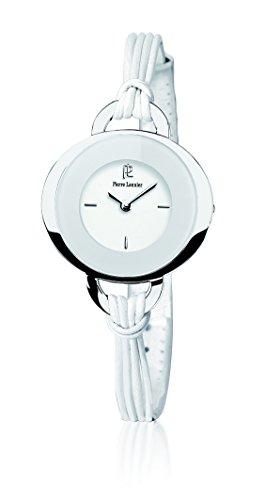 Pierre Lannier - 034K600 - Montre Femme - Quartz Analogique - Cadran Blanc - Bracelet Cuir Blanc