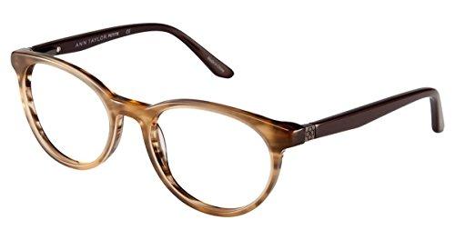 ann-taylor-atp803-eyeglass-frames-frame-brown-horn-size-48-16mm