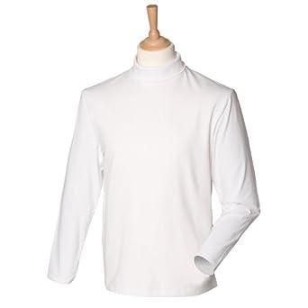 Henbury Mens Long Sleeve Cotton Rich Roll Neck Sweatshirt by Henbury