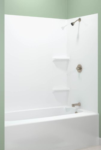 Find Bargain ASB TEMP203A Tempo Tub Wall, White, 5-Piece