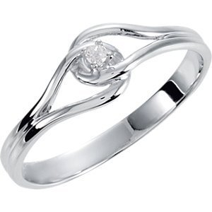 14kt White .02 CTW Diamond Ring