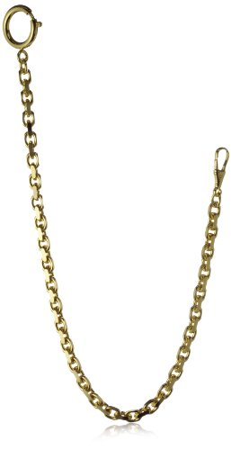 MTS Men's Pocket Watch Chain Anchor A170/30dia Gold Plated Diamond Covered 30cm