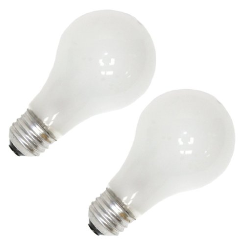 Bulbrite 50A19F/12 50-Watt A19 Frost 12 Volt Incandescent Bulbs – 4 Pack