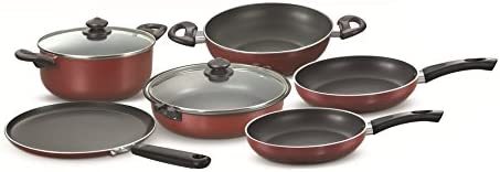 Prestige Omega Deluxe Induction Base Non-Stick Kitchen Set, 6-Pieces