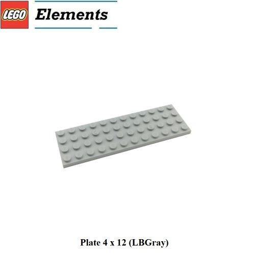 Lego Parts: Plate 4 x 12 (LBGray) - 1