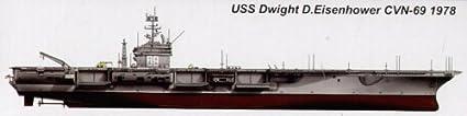 Porte-avions USS CVN-69 Dwight D.Eisenhower 1978